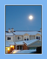 February Full Moon (bigbrowneyez) Tags: moon fullmoon supermoon acrossthestreet luna cielo casa februaryfullmoon nature natura bella bellissima beautiful bright dawn snow neve winter inverno cold clear bluesky cieloblu ottawa canada fantastic striking stunning amazing