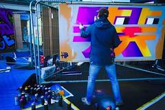 Graffiti (denise.ferley) Tags: spraycans spraying norwich urban uk thisisengland peopleinthestreet peoplewatching artwork painting art graffiti streetlife streetphotography