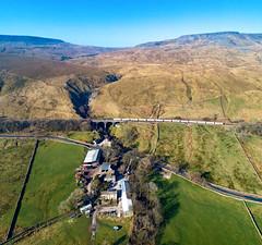 66742 on Ais Gill Viaduct (robmcrorie) Tags: ais gill aisgill settle carlisle railway 66742 mossed clitheroe cement farm barn house viaduct phantom 4 wild boar fell 1z10