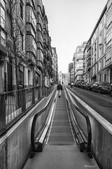 Santander (alfonso-tm) Tags: bw santander escaleras edificios ciudad coches barandillas
