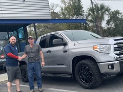 Mike toole with his new tundra (Autolinepreowned) Tags: autolinepreowned highestrateddealer drivinghappiness atlanticbeach jacksonville florida