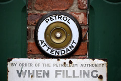 Before Self Service (mike.read44) Tags: enamel sign button bell garage petrol brass