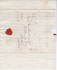 ASH2-033f Letter from G E Jemmett, Ashford, 26th Nov 1819 (audinary_music) Tags: ashford kent