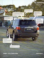 2009 Toyota Kluger 5 Door SUV Wagon Aussie Original Magazine Advertisement (Darren Marlow) Tags: 2 9 20 2009 t toyota k kluger s u v suv w wagon c car cool collectible collectors classic a automobile vehicle j jap japan japanese asian asia 00s