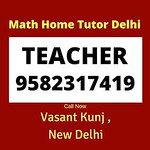 Best Math #Tutor for Home Tuition in Vasant Kunj, Delhi.⠀ Call Now: 9582317419.⠀ Since 2007.⠀ Result Oriented.⠀ Affordable Fee.⠀ 😀 😀 😀⠀ ⠀ #VasantKunj #Delhi #NewDelhi #SouthDelhi #DelhiTimes #EOK #HauzKhas #Saket #GreaterKailash thumbnail