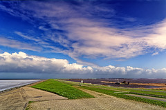 On Top Of It (Alfred Grupstra) Tags: nature ruralscene sky cloudsky agriculture blue summer outdoors landscape farm field grass scenics europe road meadow land cloudscape landscaped greencolor 983 dike water waddenzee lauwersmeer boat