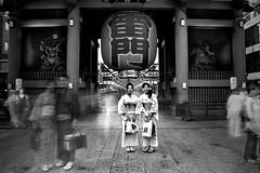 Two Kimonos www.ColeThompsonPhotography.com (Cole Thompson) Tags: noir dark kimono bw blackandwhite bnw longexposure tokyo japan monochromatic monochrome mono colethompsonphoto cole photoart fineart art
