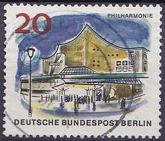 Deutsche Briefmarken (micky the pixel) Tags: briefmarke stamp ephemera deutschland bundespost berlin gebäude building konzerthaus berlinerphilharmonie tiergarten herbertvonkarajanstrase