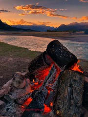 ~Burning Embers~ (cowgirlrightup) Tags: campfire smores cowgirlrightup alberta mountains