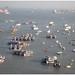 De baai bij de Gateway of India in Bombay - Mumbai in India ....