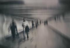 Shadow People (Bill Eiffert) Tags: underground moscow people shadows surreal nik pixlr strange edit colour