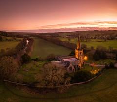 St Alkmund's Church at Sunset (Photo Lab by Ross Farnham) Tags: colour church goldenhour sunset rossfarnham landscape duffield belper england unitedkingdom gb
