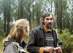 Jean-Michel Le Corre, berger du Conservatoire des races d'Aquitaine et Rachel Léobet