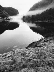 Svarthvitt -|- Black & White lake (erlingsi) Tags: erlingsi iphone erlingsivertsen bnw nature dregebøvatn dregebø gaular explored explored070119