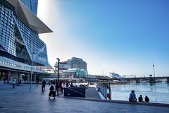 Part of the Walkway around Darling Harbour, Sydney, AU (Jim 03) Tags: architecture darling harbour sydney australia walkway international convention center skyline blue sky water jim03 jimhoffman jhoffman jim wwwjimahoffmancom wwwflickrcomphotosjhoffman2013
