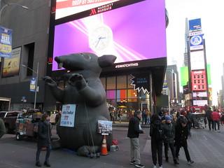 2019 Giant Strike Rat Balloon Corner of 45th St NYC 3697
