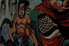 San Francisco (xtaros) Tags: sanfrancisco chinatown xtaros mural wall paint streetart art colors california notoriuspig pig notorius san francisco