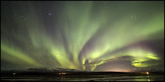 Pano Aurores-6 (frankastro) Tags: aurora aurore iceland islande hosfos astronomy astronomie astrophotography