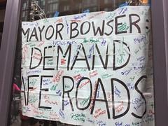 Protest for a Safer H Street NE (Mr.TinDC) Tags: sign signs protest streets safety biking walking mayorbowser dc washingtondc