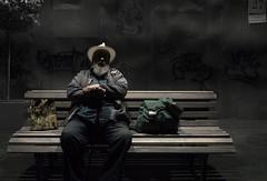 Saulius Eduardas Pauliukonis (audrakors) Tags: actor aktorius sauliuseduardaspauliukonis sauliuspauliukonis eduardaspauliukonis šiauliųteatras šiauliųdramosteatras šiauliai artist man male vyras senelis senukas oldman grandpa theater stage art menininkas feel feeling emotion alone lonely vienas vienišas beard barzda protingas wise wiseman hat backpack travel traveler tourist voyager bench sitting keliautojas photography photographer nikon iamnikon fotografas fotografė fotografija lietuva lithuania people human personality žmonės žmogus nikond7100 d7100