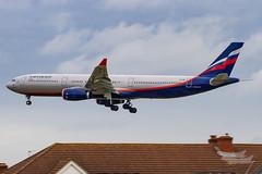 VQ-BMX SU A333 27L EGLL-3169 (A u s s i e P o m m) Tags: aeroflot su airbus a333 lhr egll
