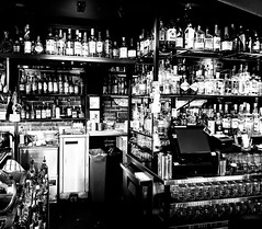 Distillerie No 2 Bar (Montreal) (MassiveKontent) Tags: bar whiskey distillerieno2 bw contrast city monochrome urban blackandwhite bottles bwphotography background pub drink glass alcohol hipster refreshment beverage liquid retro shot classic oldschool plateau montreal quebec canada montroyal montréal