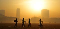 Kolkata Maidan on A Misty Morning (pallab seth) Tags: kolkata winter maidan mist misty morning sunrise city cityscape landscape artistic silhouette people horse riding equasy india romantic beautifulcity calcutta bengal শীতেরসকাল samsungnxseries nx300m