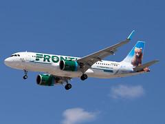 N335FR (ChrischMue) Tags: frontier airlines airbus a320251 neo las vegas mccarran international klas n335fr