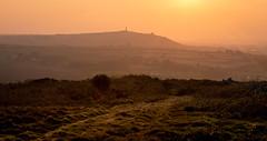 Sunset over Carn Brea (Dom Haughton) Tags: sunset canon canon5diii canon5dmkiii carnbrea cornwall kernow westcountry westcountryclickers orange