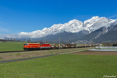 ÖBB 1144 040 und 1144 283 bei Flaurling (TheKnaeggebrot) Tags: öbb 1144 114440 1144040 1144283 flaurling arlberg güterzug rca rail cargo austria tandem doppeltraktion vorspann train railways eisenbahn arlbergbahn alpenbahn