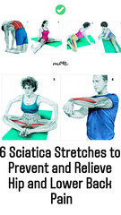 6 Sciatica Stretches to Prevent and Relieve Hip and Lower Back Pain (healthylife2) Tags: 6 sciatica stretches prevent relieve hip lower back pain