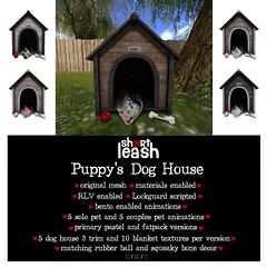 .:Short Leash:. Puppy's Dog House (Short Leash // original mesh & virtual kink) Tags: shortleash secondlife submissive puppyplay puppy petplay bdsm master mistress