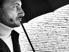 The rain man (ioriogiovanni10) Tags: black monotone buonagiornata goodmorning pioggia homme je viso eye io face biancoenero monocromatico blackandwhite