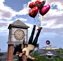 """"""" Love is in the Air """" (maka_kagesl) Tags: secondlife sl second life game gaming games videogame virtual valentine southern southernroots balloon balloons funny love"""