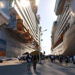 In Between Two Mega Cruise Ships thumbnail