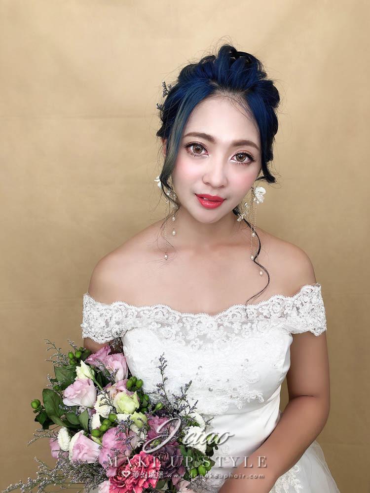 【新秘婕喬】新娘造型創作 / 夢幻鮮花造型