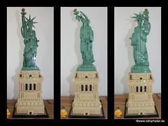 Lego Collage (Lothar Heller) Tags: lego architektur architecture brick stein legosteine freiheitsstatue statueofliberty collage