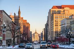 Downtown Albany (ruifo) Tags: nikon d850 nikkor 50mm f12 ais us usa united states america albany ny new york state capital city urban arquitetura architecture building skyline cidade ciudad urbano downtown monument monumento predio prédio buildings predios prédios skyscraper skyscrapers landscape paisagem paisaje winter inverno invierno snow neve nieve weather suny plaza car cars street road rua calle tower torre