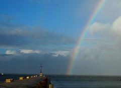 pier and rainbow (evablanchardcouet) Tags: arcenciel clouds sky pier jetée