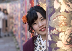 100 Strangers 8/100 Aika (Andrew Allan Jpn) Tags: 100strangers humanfamily happyplanet asian japan japanesegirl evening illumination smile kyoto arashiyama travel street streetportrait streetfashion pentaxart depth persepctive eyecontact asiafavorites