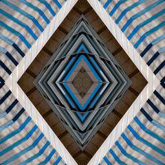 Convergence, fixed (jfre81) Tags: abstract pattern texture minimalism geometric collage box square diamond lines diagonal rows blue black kaleidoscope urban city architecture photography creative experimental avant garde