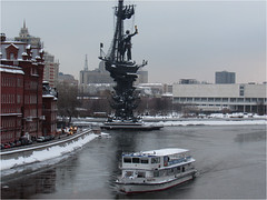 Winter in Moscow... (lyudmila fomina) Tags: mygearandme canon autofocus winter river winterinmoscow boat