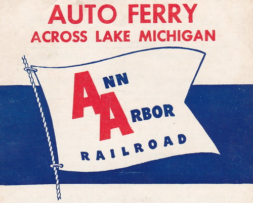 SHIP 1959 AARR CAR FERRY GUIDE AND SCHEDULE From the Arthur C Frederickson Estate Great Lakes AARR Car Ferry Captain, as well as other Steamships Author Maritime Historian Frankfort Elberta MI-