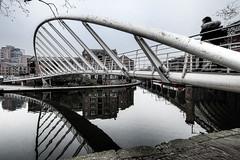 It's that bridge again (wardsal) Tags: uk 2019 winter february greater manchester canal dull mist greatermanchester unitedkingdom gb castlefield bridge bridgewater