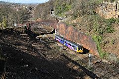 Small Train In A Big Cutting. (Neil Harvey 156) Tags: railway 142088 addingford horbury wakefield class142 dmu multipleunit northernrail pacer