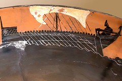 piracy black-figured Greek Galley on the interior of a cup from Cerveteri Italy 520 BCE 720X480 (mharrsch) Tags: boat ancient maritime seafaring greek ship galley blackfigured ceramic 6thcenturybce