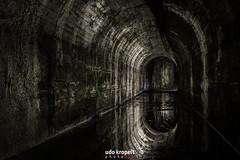 Stollenspiegel (Udo Kropeit Photo Art) Tags: stollen bergbau spiegel spiegelung wasser schwarz weis glück auf glückauf luftschutz wasserspiegelung tunnel ruhrgebiet verlasse ort nikon d7500