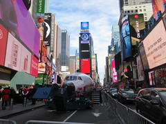 2019 Celebration of Retro TWA Hotel - Wingless Plane Times Square 4520 (Brechtbug) Tags: 2019 celebration retro twa hotel brooklyn wingless 1958 lockheed constellation connie l1649a starliner airplane visits times square before heading trans world airlines new yorks john f kennedy international airport known york anderson field commonly idlewild city march 23rd nyc 02232019