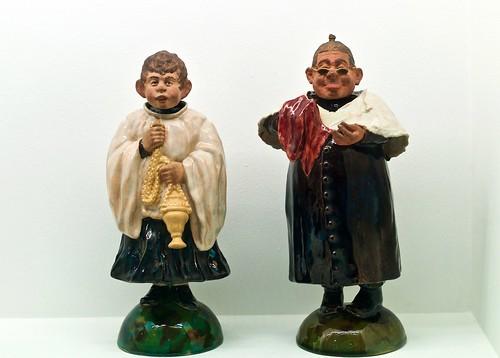 The priest and the parish sexton (undated) - Rafael Bordalo Pinheiro (1846 - 1905)