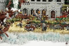 Lond Daer - Custom Numenorian minifigs (Barthezz Brick) Tags: lego lond daer middle middleearth medieval fantasy moc afol barthezz barthezzbrick brick custom lotr lord rings lordoftherings shipyard pub castle wall city